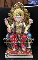Marble Lal Baugcha Raja Ganesh Statue