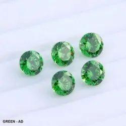 Cubic Zirconia Green Ad Round