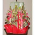 Hand Carved Floral Decorative Candle Set