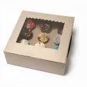 5K 12 Cupcake Kraft Box With Window & Insert