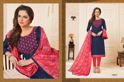 cfa380c61a Party Wear Cotton Kessi Signature Dress Material, Rs 675 /piece | ID ...