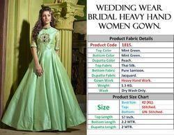 Pista Thankar Heavy Wedding Wear Bridal Heavy Hand Women Gown