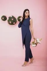One Sided Cut Sleeve Jumpsuit