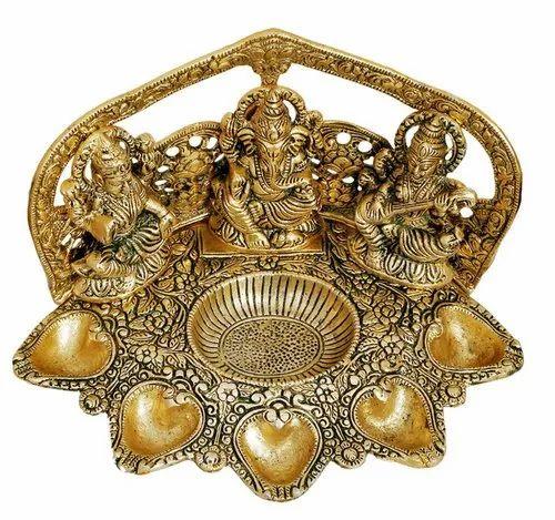 Miniature Figurine Brass Lord Siva Shiv Shiva Metalwork Art  Decor