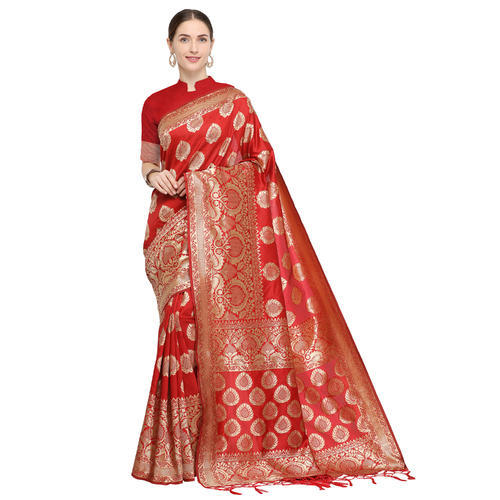 416dc926b2 Banarasi Silk Weaving Saree With Blouse Piece, Length: 6.3 M, Rs 849 ...