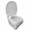 Closed Front White Parryware Angel Wall Hung Toilets, 485 X 355 X 355mm