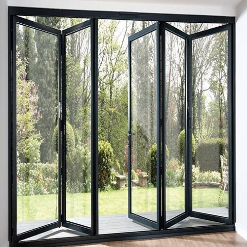 Aluminum Glass Folding Door At Rs 2500 Piece Aluminium Door