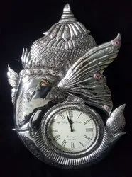 DECOR Luxury(Premium) Silver Watch, Model Name/Number: Wall Clocks