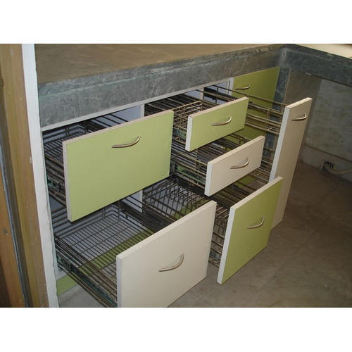 Modular kitchen stylish drawers