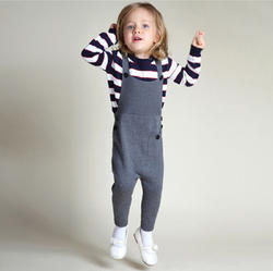 Girl Grey Kids Overall