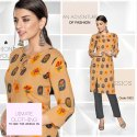Erose 2- Libas Rayon Checks With Fancy Pattern Kurtis