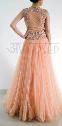 Satin Party Ladies Wear Gowns Designer In Delhi Rs 12800 Piece