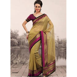 Silk Ladies Ethnic Saree with Blouse Piece, Length: 5.5 m