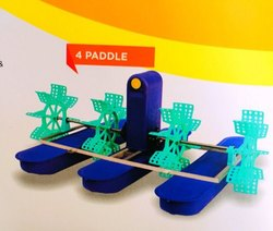 Surface Floating Fine Bubble Paddle Wheel Aerator, For Aquaculture Fish Farm, 1 mm