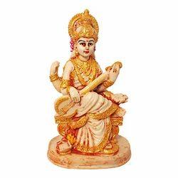 Marble Look Lord Maa Saraswati Idol