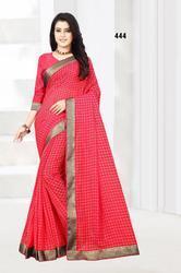 Lifestyle Janvi Prints Series 111-666 Stylish Party Wear Jaani Checks Saree
