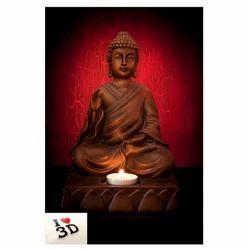 Pvc Lord Buddha 3d Wallpaper Rs 130 Square Feet Yellowbel Interior Id 20200390530