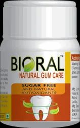 Natural Gum Care Tooth Powder (Bioral), Bottle, Packaging Size: 50 Grams (30g Also Available)