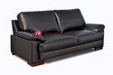 Black Two Seater Office Sofa Os2s-p-003