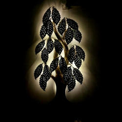 LED light Metal Tree Decor Craft