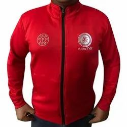 Red Mens Designer Dri Fit Jacket, Size: S-xl