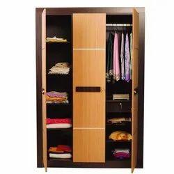 Nilkamal Brown Cedar 3 Door Wardrobe, For Storage