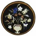 Round White Coffee Center Floral Table Top