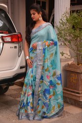 Printed Cotton Party Wear Saree