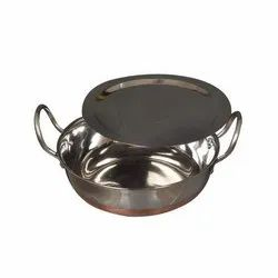 Nutristar Round 1000 mL Stainless Steel Copper Kadhai