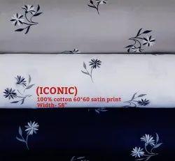 Iconic 100% Cotton Satin Print