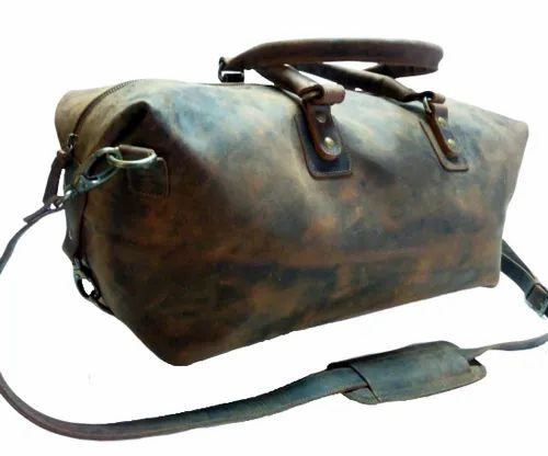 Hunter Leather Gym Bag
