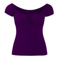 Ladies Half Sleeves Plain Tops 4912ee990