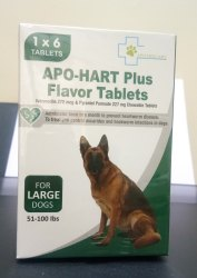 Apo-Hart Plus Flavor Tablets ( Large Dogs )