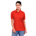 Half Sleeves Women Office Polo T Shirt