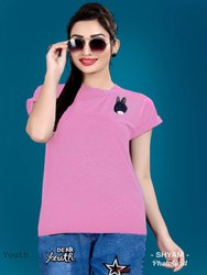 Round Daily Wear Youth Imported Emboss Kurti, Size: XL