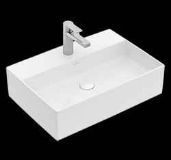 White Surface Mount Memento 2.0 Countertop Ceramic Wash Basin, 22 X 18 Inch