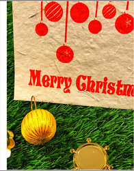 Christmas Red Seeded Cards