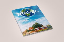 Multicolor Art Paper Travel Plan Information Brochure