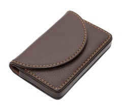 Round Leather Card Holder