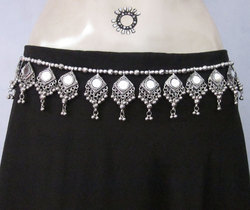 Belly dance Skirt Outfit Mirror Tie Belt Fashion