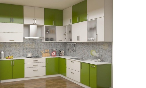 L Type Kitchen Cabinet At Rs 1200 Square Feet Modular