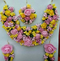 Yellow and Peach Flower Jewelry
