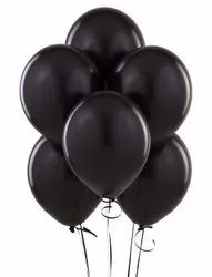 50 Pack Of Black Metallic Latex  Balloon For Birthday Party