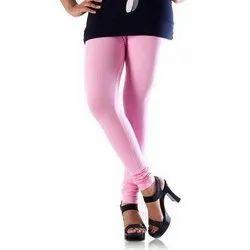 Cotton Churidar Ladies Pink Legging