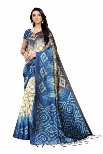 RAMAPIR FASHION Multicolor MYSORE SILK WITH JHALAR SAREE, Machine Made, 6.30 MTR