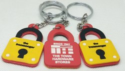 PVC Double Sided Keychain, Packaging Type: Packet