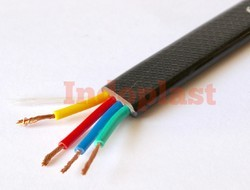 Indoplast 3 plus 1 Flat Elevator Cable, for CCTV, Cable Size: 0.75 Sq.mm