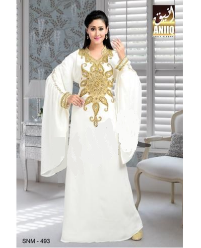 Dubai Takchita Nikah Georgette Dress Kaftan