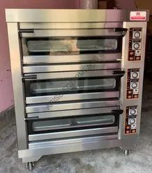 SS Electric 3 Deck 6 Trays Baking Oven