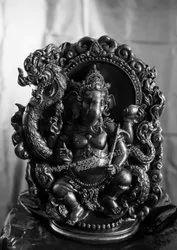 Black Marble Ganesha Statue